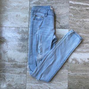 Garage Distressed Skinny Jeans